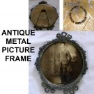 Antique Metal Picture Frame with Vintage Photo