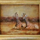 Large Framed Giraffe Print