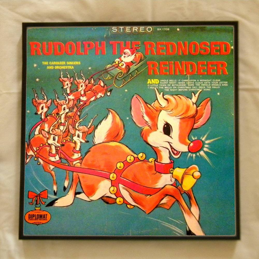 Framed Vintage Record Album  -   Rudolph the Rednosed Reindeer  0058