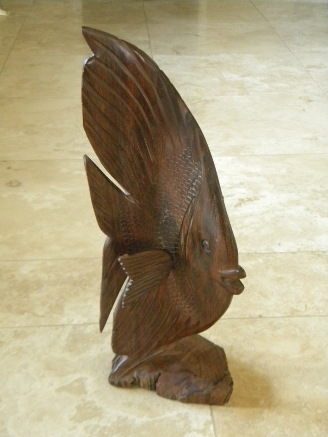Wood carving fish large