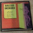 Framed Vintage Record Album Cover – Burlesque Uncensored