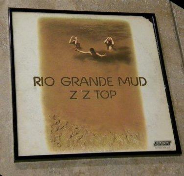 Rio Grande Mud -ZZ Top - Framed Vintage Record Album Cover � 0191