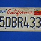 Vintage License Plate - California  5DBR433