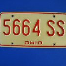 Vintage License Plate - Ohio  566 4 SS