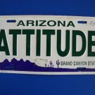 Manufactured License Plate - Arizona ATTITUDE