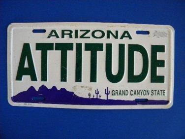 Manufactured License Plate - Arizona ATTITUDE