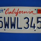 Vintage License Plate - California 5WLL345 2011
