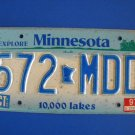 Vintage License Plate – Minnesota 572 MDD