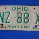 Vintage License Plate - Ohio NZ 88 X