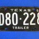 Vintage License Plate – Texas  D80228