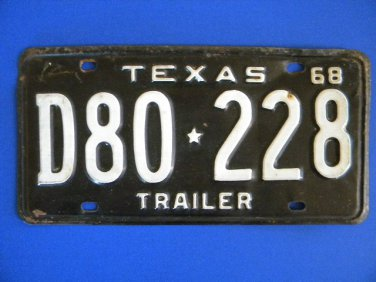 Vintage License Plate � Texas  D80228