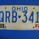 Vintage License Plate - Ohio QRB-341
