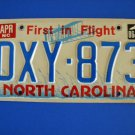 Vintage License Plate - North Carolina DXY 873