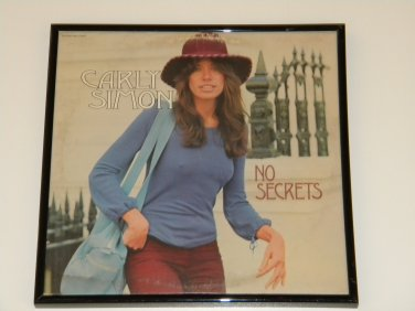 Carly Simon - No Secrets - Framed Vintage Record Album Cover � 0236