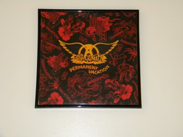 Aerosmith - Permanent Vacation - Framed Vintage Record Album Cover � 0237