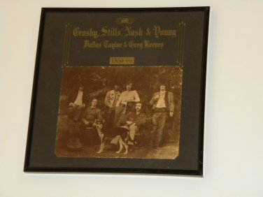 Crosby, Stills, Nash, & Young - Déjà Vu - Framed Vintage Record Album Cover � 0239