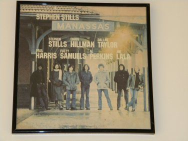 Stephen Stills - Manassas - Framed Vintage Record Album Cover � 0244