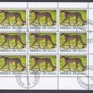Angolia Cheetah Postage Stamps - Souvenir Sheet
