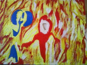 TREVOR R PLUMMER MIXED MEDIA & COLLAGE Flames $15,600.