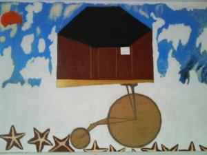 FOLK ART & PRIMITIVES TREVOR R PLUMMER Penny Farthing $1414