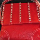 Red Handbag/Rhinestones on Flap