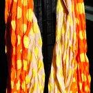orange and yellow polka dot