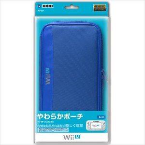Nintendo Wii U Game Pad Official Licenced Hori Soft Pouch Blue