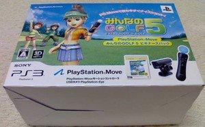PS3 Minna no Golf 5 Beginner's Pack Motion Controller USB Cam JPN VER NEW