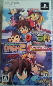 PSP Rockman Dash/Rockman Dash 2 Value Pack JPN VER Used Excellent Condition
