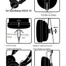Oyaide HPC-HD25 Headphone Lead Cable 1.2m Sennheiser HD25-1 II Red