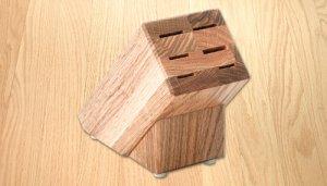 Oak Block (holds 6 items)