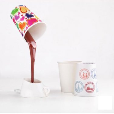 Coffee Cup LED Light Desk Table Lamp Office Home USB/AAA Battery Energy Save
