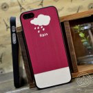 Stylish Soft Case Skin for iPhone 5 - Rain Cloud Theme Lover Must Have Man