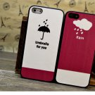 2x Stylish Soft Case Skin for iPhone 5 - Umbrella and Rain Theme Lover Gift