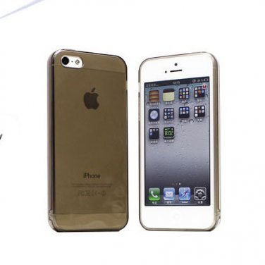 Slim TPU Soft Case Skin for iPhone 5 Transparent & Protective @Black