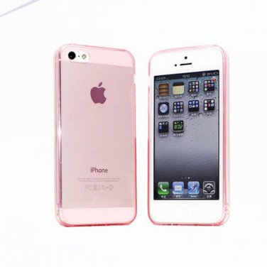 Slim TPU Soft Case Skin for iPhone 5 Transparent & Protective @Pink