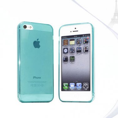 Slim TPU Soft Case Skin for iPhone 5 Transparent & Protective @Green