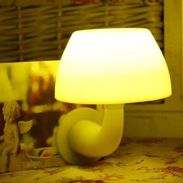 Mushroom Light and Sound Control LED Nightlight Home Room Corridor
