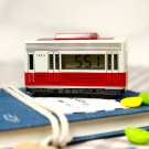 Old Bus Model Clock Digital Alarm Never Drop Desk Dream Ring Children Gift