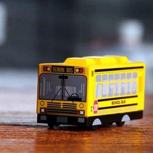 Old School Bus Model Yellow Clock Digital Alarm Never Drop Desk Dream Ring Children Gift