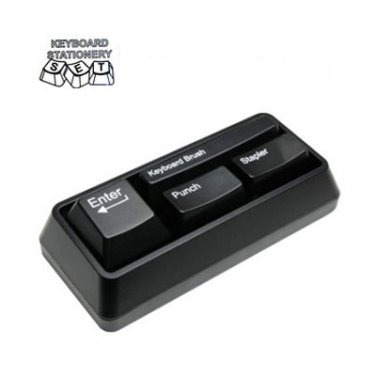 Keyboard Stationery Set Office Gadget Gift Black