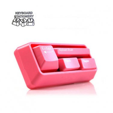 Keyboard Stationery Set Office Gadget Gift Cute Pink Color *New*