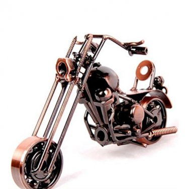 Harley Motor Handcraft Metal Model Home Desk Decoration Gift - Bronze Color