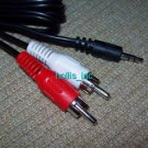 New 3 ft Mini 3.5 mm To Dual RCA Cable Audio Adapter 3.5 mm To RCA Cord