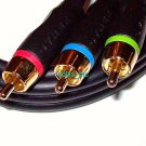 New 6 ft Dynex Best Buy Gold Component RCA Video Cable RCA Male To RCA Male