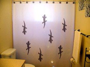 Unique Shower Curtain Gecko lizard giant reptile geckos animal