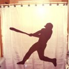 Unique Shower Curtain sport Baseball player hitter not pitcher