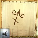 Unique Shower Curtain zodiac sign SAGITTARIUS The Archer
