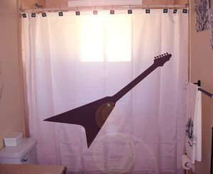 Unique Shower Curtain music Electric Guitar string instrument
