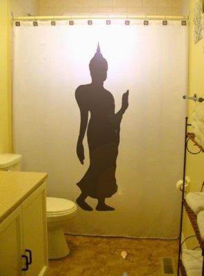 Unique Shower Curtain buddha statue nakhon pathom thailand